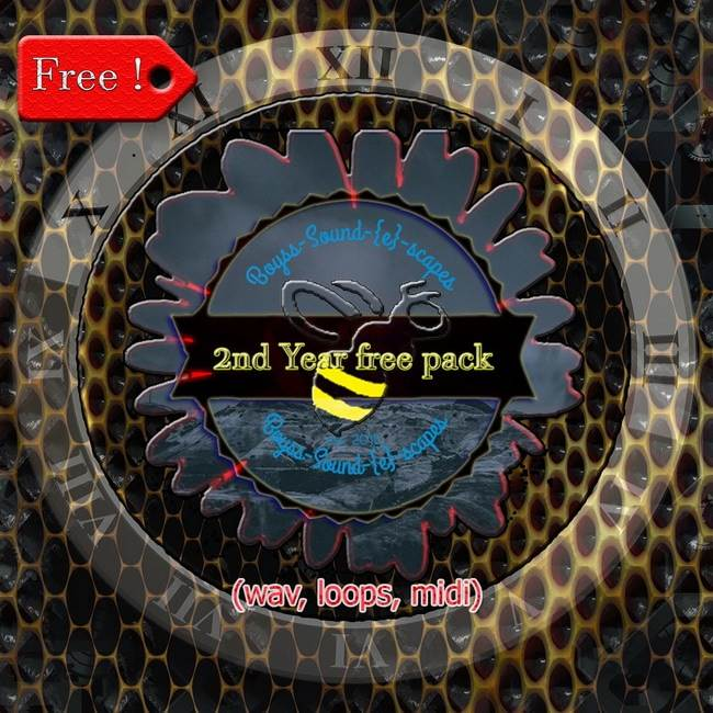 2nd Year Free Pack hip hop drum loops breaks atmos bass midi