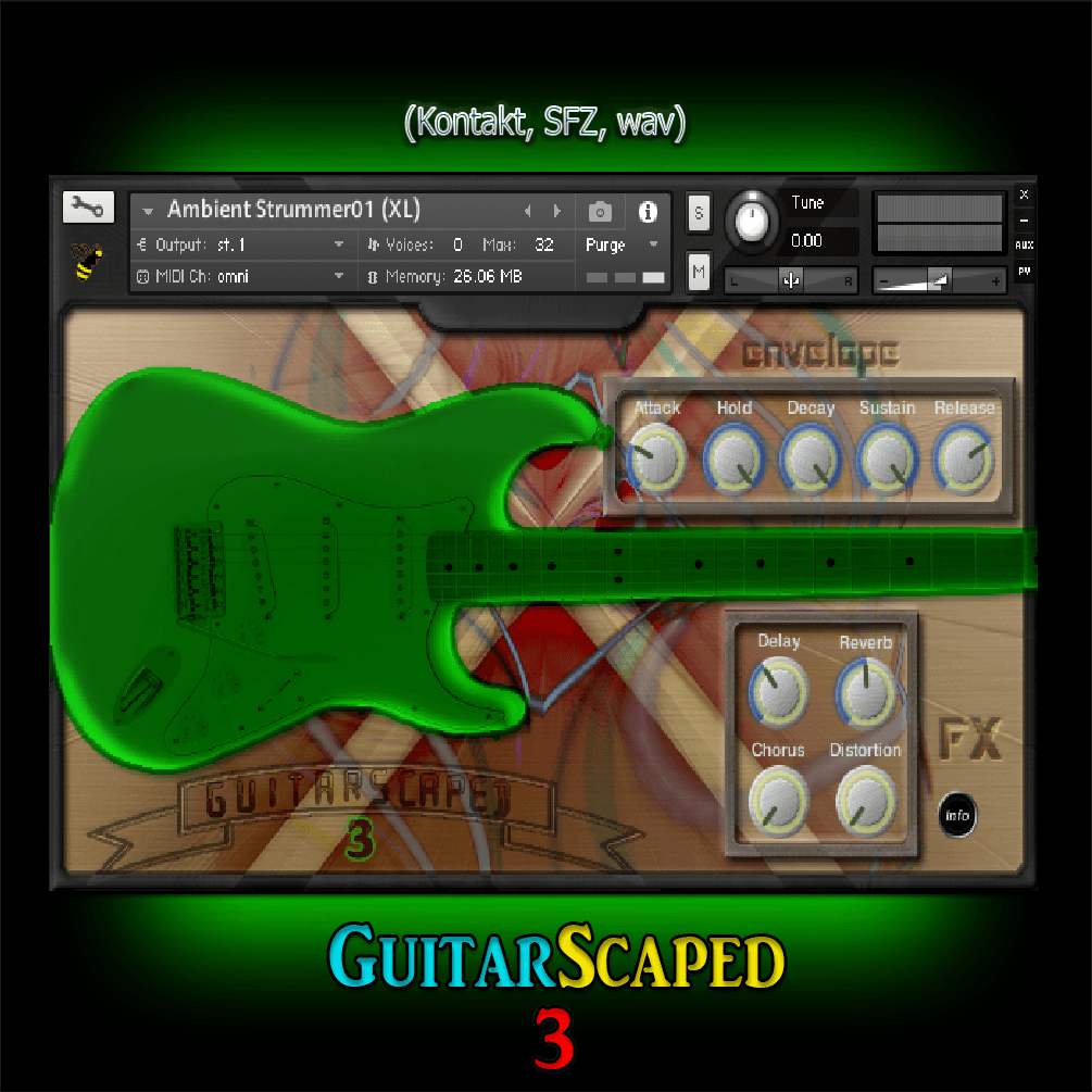 GuitarScaped 3 kontakt sfz